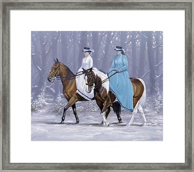 Winter Ride Framed Print by John Silver