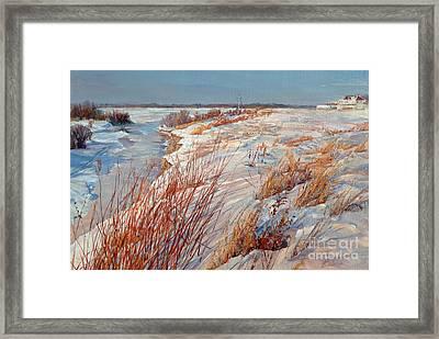 Winter River Framed Print