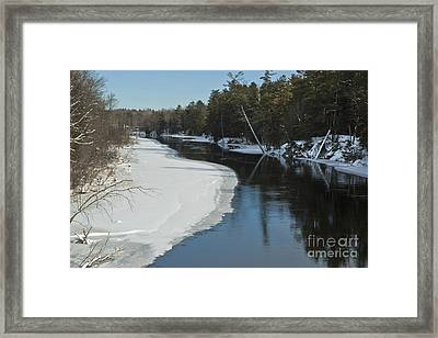 Winter River I Framed Print