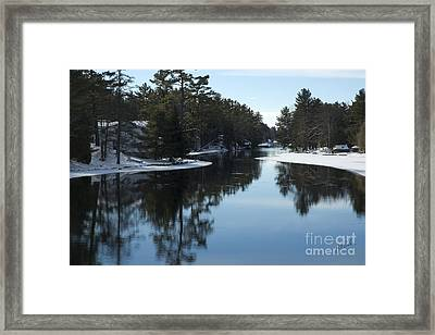 Winter River II Framed Print