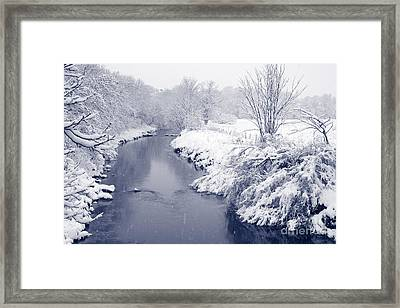 Framed Print featuring the photograph Winter River by Liz Leyden