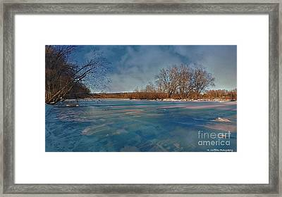 Winter River Framed Print by Mike Griffiths