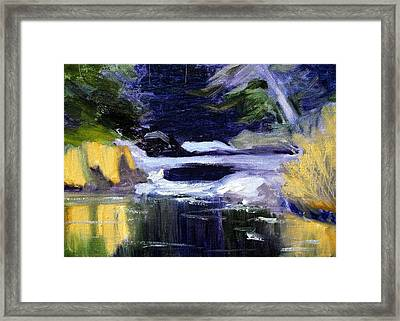 Winter River Framed Print by Nancy Merkle