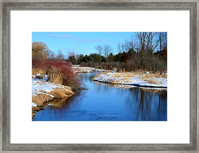 Winter River1 Framed Print by Jennifer  King