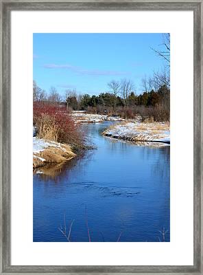 Winter River2 Framed Print by Jennifer  King