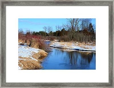 Winter River3 Framed Print by Jennifer  King