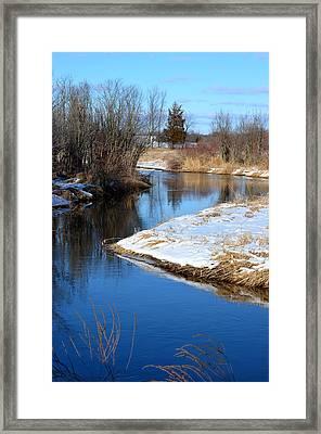 Winter River4 Framed Print by Jennifer  King