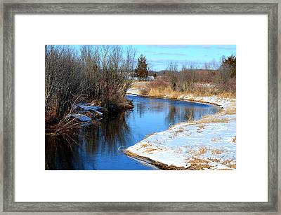 Winter River5 Framed Print by Jennifer  King