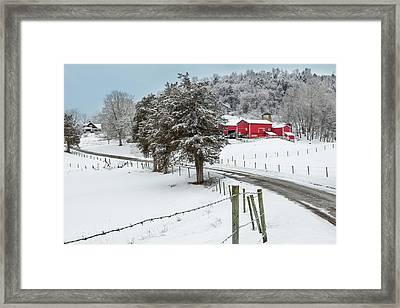 Winter Road Framed Print by Bill Wakeley