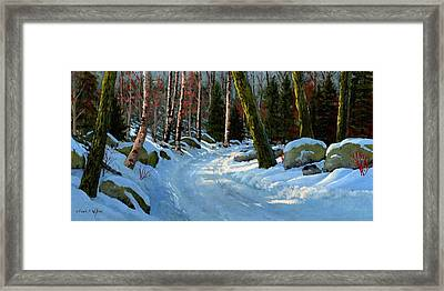 Winter Road Framed Print by Frank Wilson