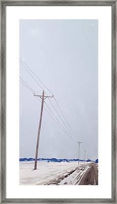 Winter Road Framed Print