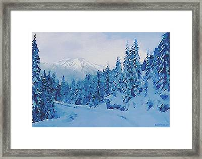 Winter Road Framed Print by Sophia Schmierer