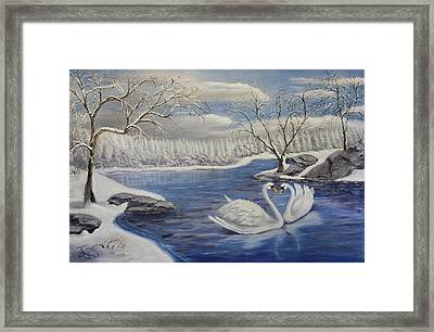 Winter Romance Framed Print by Lou Magoncia