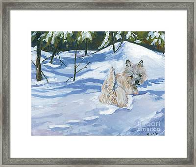 Winter Romp Framed Print by Molly Poole