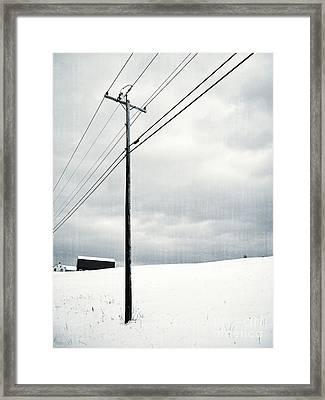 Winter Rural Scene Framed Print by Edward Fielding
