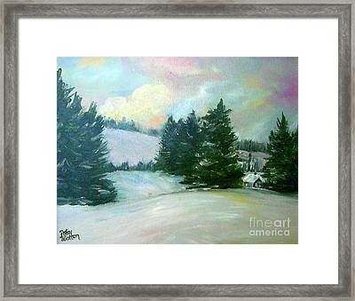 Winter Sang In The Chimneys Framed Print