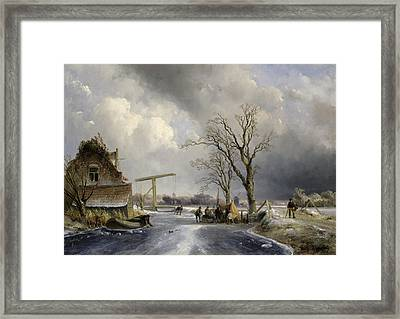 Winter Scene, 1846 Framed Print