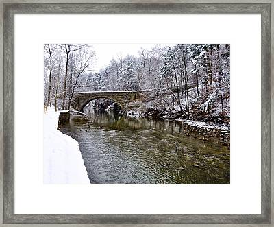 Winter Scene At Valley Green Framed Print by Bill Cannon