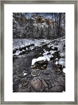 Winter Scene Framed Print by Bill Cantey