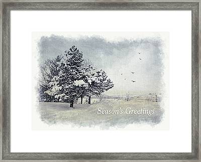 Winter Scene Greeting Card Framed Print