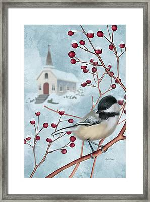 Winter Scene I Framed Print by April Moen