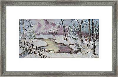 Winter Scene Framed Print by Joni McPherson