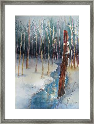 Winter Scene Framed Print by Lori Chase