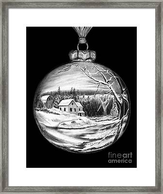 Winter Scene Ornament Framed Print