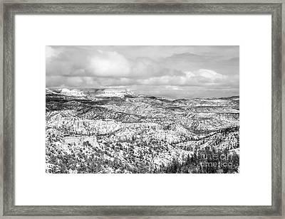 Winter Scenery In Bryce Canyon Utah Framed Print