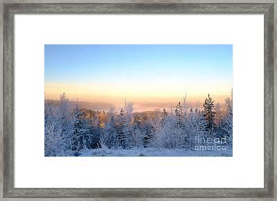 Winter Scenery Of The Lake Hiidenvesi Framed Print