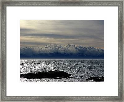 Winter Sea Winter Sky Framed Print