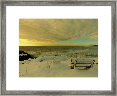 Winter Seascape Framed Print