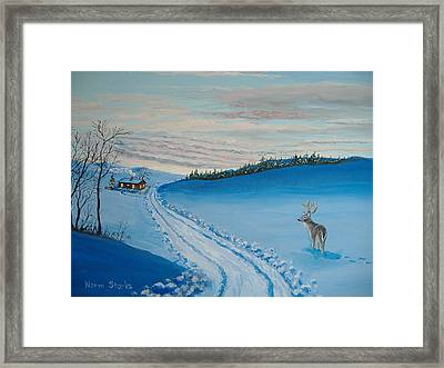 Winter Sentinel Framed Print by Norm Starks