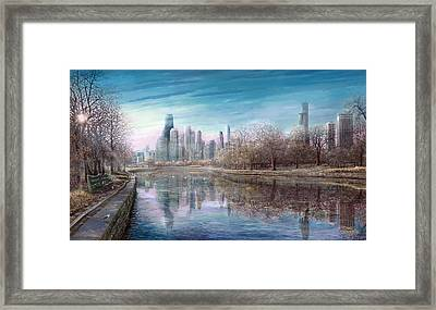 Winter Serenity Frost Framed Print