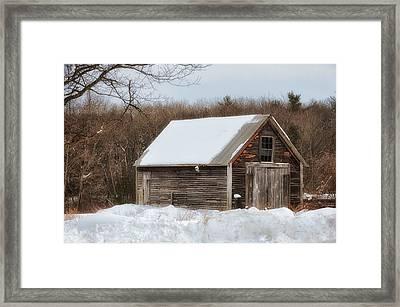 Winter Shack Framed Print by Tricia Marchlik