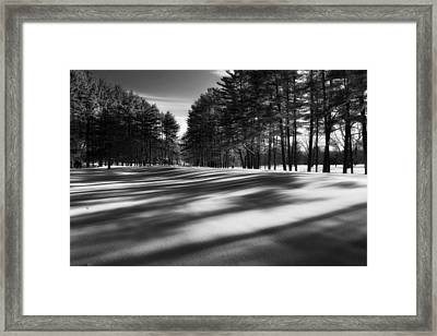Winter Shadows Framed Print by Bill Wakeley