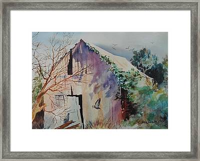 Framed Print featuring the painting Winter Shadows by John  Svenson