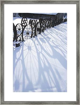 Winter Shadows Framed Print by Latah Trail Foundation