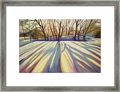 Winter Shadows Framed Print by Sheila Diemert