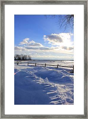 Winter Shore Framed Print by Bill Robinson