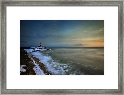 Winter Shoreline Framed Print