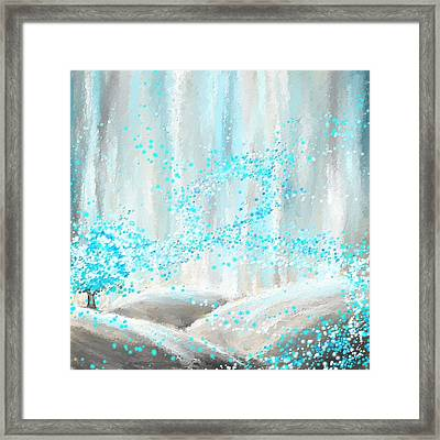 Winter Showers Framed Print by Lourry Legarde