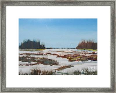 Framed Print featuring the painting Winter Silence by Jack G  Brauer
