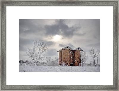 Winter Silo Framed Print by Karen Varnas