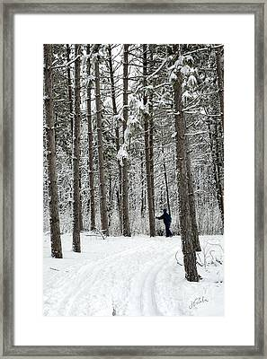 Winter Ski Framed Print