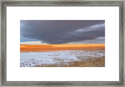 Winter Sky Alberta  Framed Print by Susan Copley