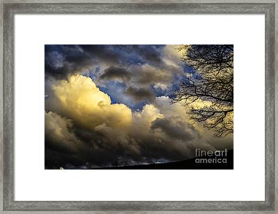 Winter Sky Drama Framed Print