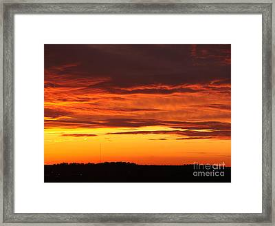 Winter Sky Framed Print by Paul Anderson