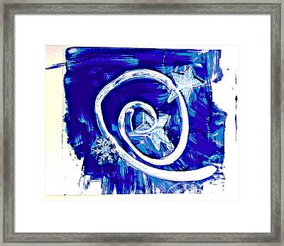 Winter Sky Swirling Framed Print