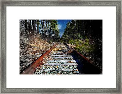 Winter Sky Train Tracks Framed Print by Jessica Cirz